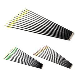 10-12 Archery Fiberglass Hunting Target Arrows Spine 500 Rec