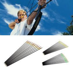 12x Target Practice Archery Carbon Fiber Arrows for Compound