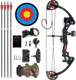 15-29lbs Pro Compound Bow Right Hand Bow Kit Archery Arrow T