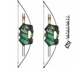 2 Pack of Barnett Lil Sioux Jr Recurve Childrens Bow and Arr