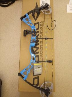 Diamond Archery 2016 Prism 5-55 Lbs Electric Blue Bow Packag