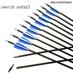 "28""/30""/31""Archery SP 500 Carbon Arrows for Recurve/Compound"