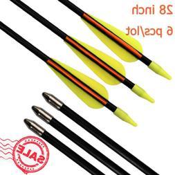 """28"""" Fiberglass Arrows Archery Compound Bow Recurve Bows Yout"""