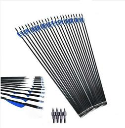 3/6/12/15 PCS 400 Carbon Fiber Arrow 4 Inch Blue And White P
