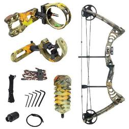 20 lb Camouflage Camo Archery Hunting Compound Bow Quiver Crossbow 25 55