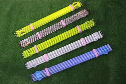 """31"""" Pure Carbon Arrows 2"""" Feather Spine 300  for Compound/Re"""
