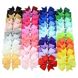 40 Pcs Lots Boutique Baby Girls Hair Bows Kids Alligator Cli
