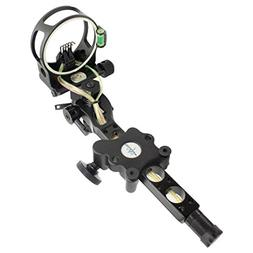 "5 pins .019"" Bow Sight with Micro Adjust Detachable Bracket,"