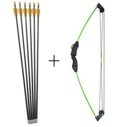 Archery 12lbs Children Compound Bow with 6 Arrows Kit Junior