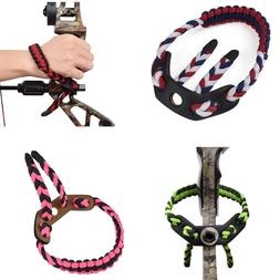 Archery 1Pc Adjustable Compound Bow Wrist Sling Braided Cord