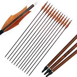 PG1ARCHERY 30 inch Archery Carbon Targeting Arrows Hunting P