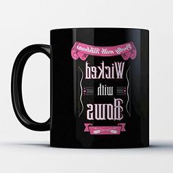 Archery Coffee Mug - Wicked With Bows - Funny 11 oz Black Ce