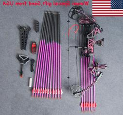 Archery Compound Bow Set Arrow Hunting Shooting Kit Gift for
