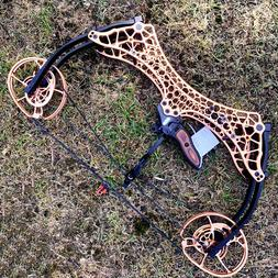 Archery Compound Bow Short Axis 320fps Steel Ball Hunting Fi