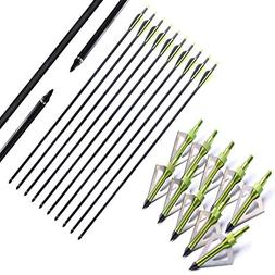 FlyArchery 10PK Archery 32-Inch Hunting Fiberglass Arrows Wi
