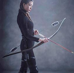 Toparchery Archery Hunting 35lbs Recurve Bow One Piece Tradi