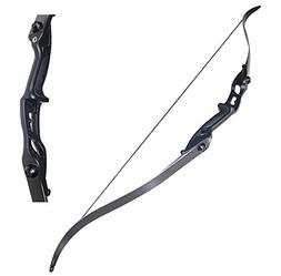 "TOPARCHERY Archery 56"" Takedown Hunting 50lbs Recurve Bow Me"