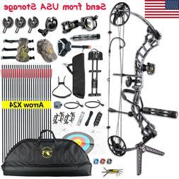 Archery Trigon Compound Bow Set Kit 19-70lbs Arrows Stabiliz
