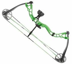 Diamond Atomic Right Hand Youth Compound bow GREEN package W