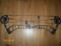 Prime Black 3 Compound Bow LEFT Handed w/ arrow rest, peep s