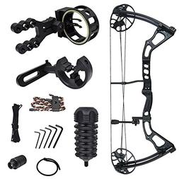 black archery hunting compound bow