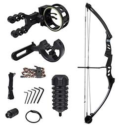 iGlow 55 lb Black Archery Hunting Compound Bow with Premium