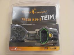 Trophy Ridge Mist Sight with Green Hood Accent for Quicker S