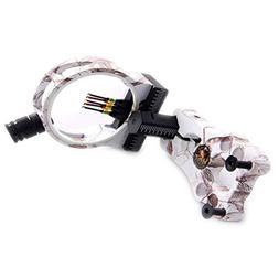 FlyArchery 5 Pin Bow Sight - Fiber, Brass Pin, Aluminum Mach