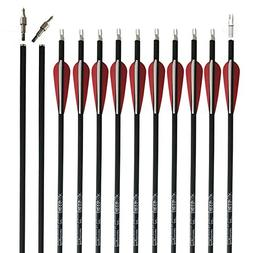 REEGOX Carbon Arrow 30 inch Beginner Practice Hunting Arrows