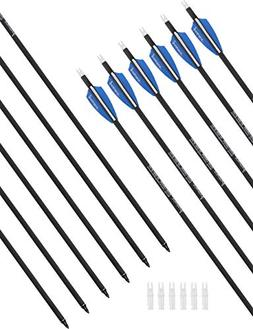 """PANDARUS 30"""" Pure Carbon Hunting Arrows Archery with Removab"""