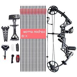 XQMART Compound Bow Package,Archery for Adults,with Hunting