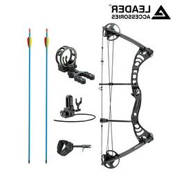 "Leader Accessories Compound Bow 30-55lbs 19""-29"" Archery Hun"
