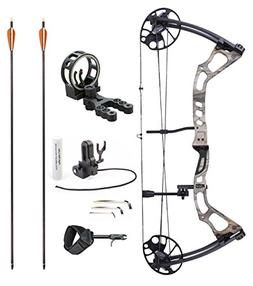"Leader Accessories Compound Bow 25-70lbs 19"" - 31"" Archery H"
