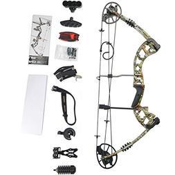 SHARROW Compound Bow Archery Hunting Compound Bow Set Camo C