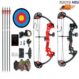 """Compound Bow Archery Set Arrows Hunting 19""""-28""""Right Hand Te"""