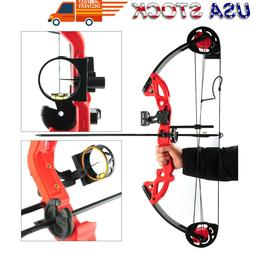 Compound Bow Archery Set Arrows Hunting Right Hand Teens Pra