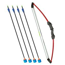 """SinoArt 35"""" Junior Compound Bow and Arrow Archery Set with 4"""