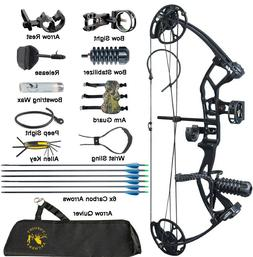 Compound Bow Arrows Set 10-40lbs Adjustable Youth Women Arch