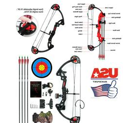 Compound Bow Bows M.A.K Teens Set& Arrows Right Hand Practic