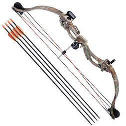 "AW 34"" Junior Compound Bow Kit w/ 4pcs 28"" Arrow Set Youth A"