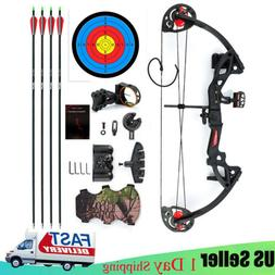 Compound Bow Set 15-29lbs Arrows Archery Hunting Equipment f