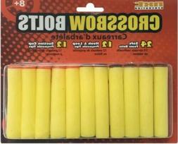 24 Safe Foam Dart Projectiles -  12 Hook and Loop and 12 Suc