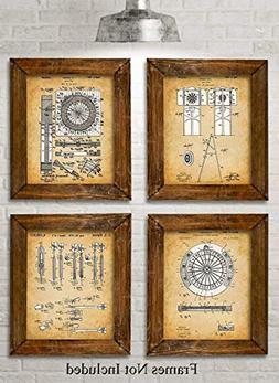 Original Darts Patent Prints - Set of Four Photos  Unframed