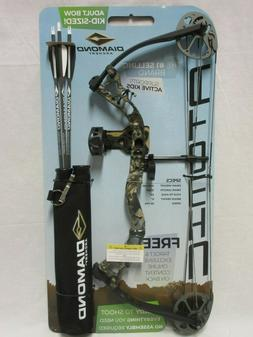 Diamond Atomic Left Hand Camo Youth Compound Bow kit 6-29# 1