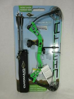 Diamond Atomic Left Hand Green Youth Compound Bow kit 6-29#