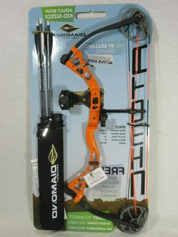 Diamond Atomic Left Hand Orange Youth Compound Bow kit 6-29#