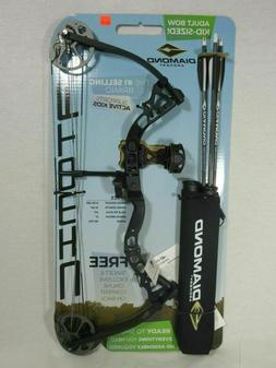 Diamond Atomic Right Hand Black Youth Compound Bow kit 6-29#