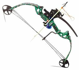 PSE Discovery Right Hand DK'd Green Camo 40lb AMS Bowfishing