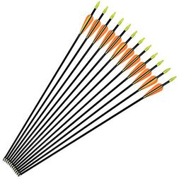 NIKA ARCHERY Fiberglass Arrows for Youth Practise Recurvebow