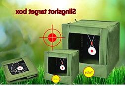 Compound Bow Folding Slingshot Target Box Aiming Practice Ca